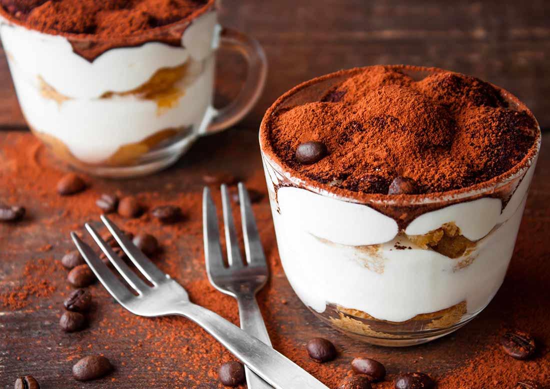 Tiramisù con cacao in polvere